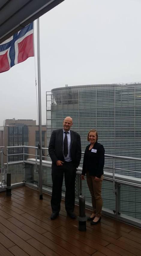 Regional og kommunalråd Eivind Lorentzen sammen med varaordfører i Rogaland Fylkeskommune, Marianne Chesak (foto: Terje Gravdal)