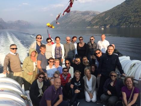 EFTAs årlige komitemøter ble i år lagt til Stavanger. Underkomiteene fikk også anledning til å se Lysefjorden på nært hold. Foto: Lars Erik Hauge, Utenriksdepartementet.
