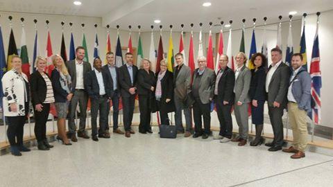 Delegasjonen fra Stavanger Universitetssykehus fikk guidet omvisning i Europaparlamentet under besøket. Foto: Nikolai Grødum Grønberg.
