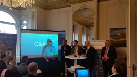 Kretsløpsøkonomi var tema under seminaret som fant sted 12. oktober. Fra venstre: Tor Martin Larsen fra Stavanger kommune,