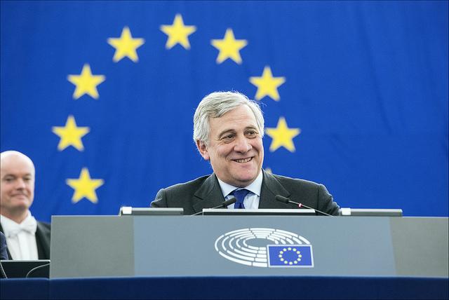 Italienske Antonio Tajani er Europaparlamentets nye president. Foto: Europaparlamentet