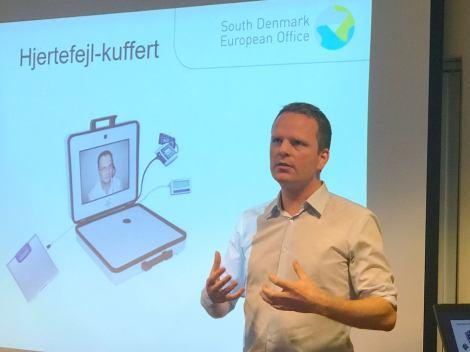 Allan Ottesen fra Syddanmarks EU-kontor presenterte Syddanmarks erfaringer som helseregion og EIP AHA Reference Site under helseseminaret på Måltidets Hus. Foto: Kristin Hetland.