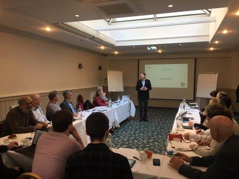 Bedriftene som deltok i Brussel gjennom FRAM-programmet fikk møte en rekke aktører i EU-hovedstaden, deriblant Pål Frisvold som er partner i Geelmuyden Kiese. Foto: Mattias Havgar, Innovasjon Norge.
