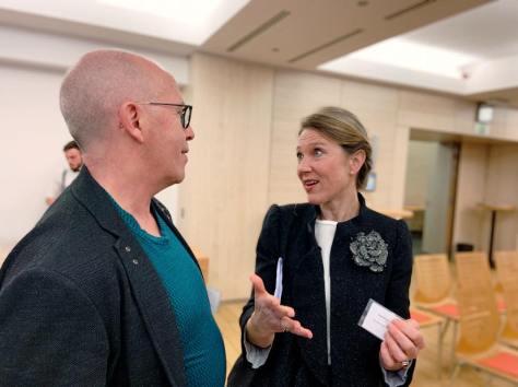 Iver Jan Leren fra Rogaland fylkeskommune og Heidi Kristina Jakobsen direktør SrE.
